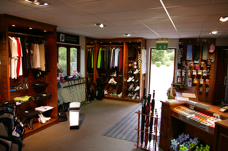 The professional shop at Sutton Green Golf Club